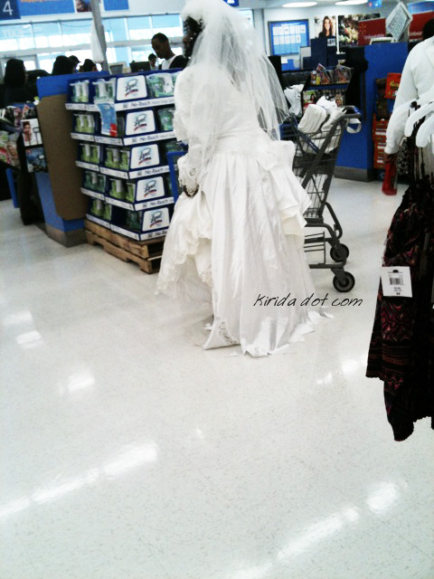 here comes the bride, down aisle 10