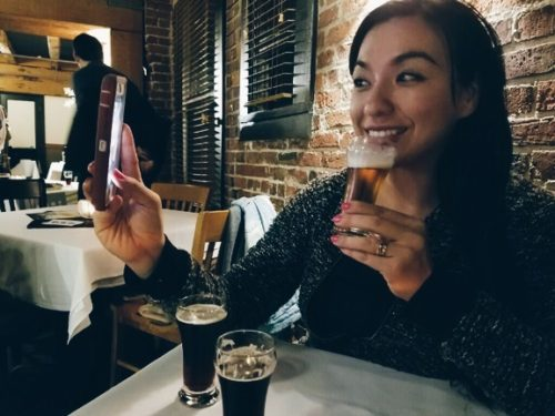 selfie with beer